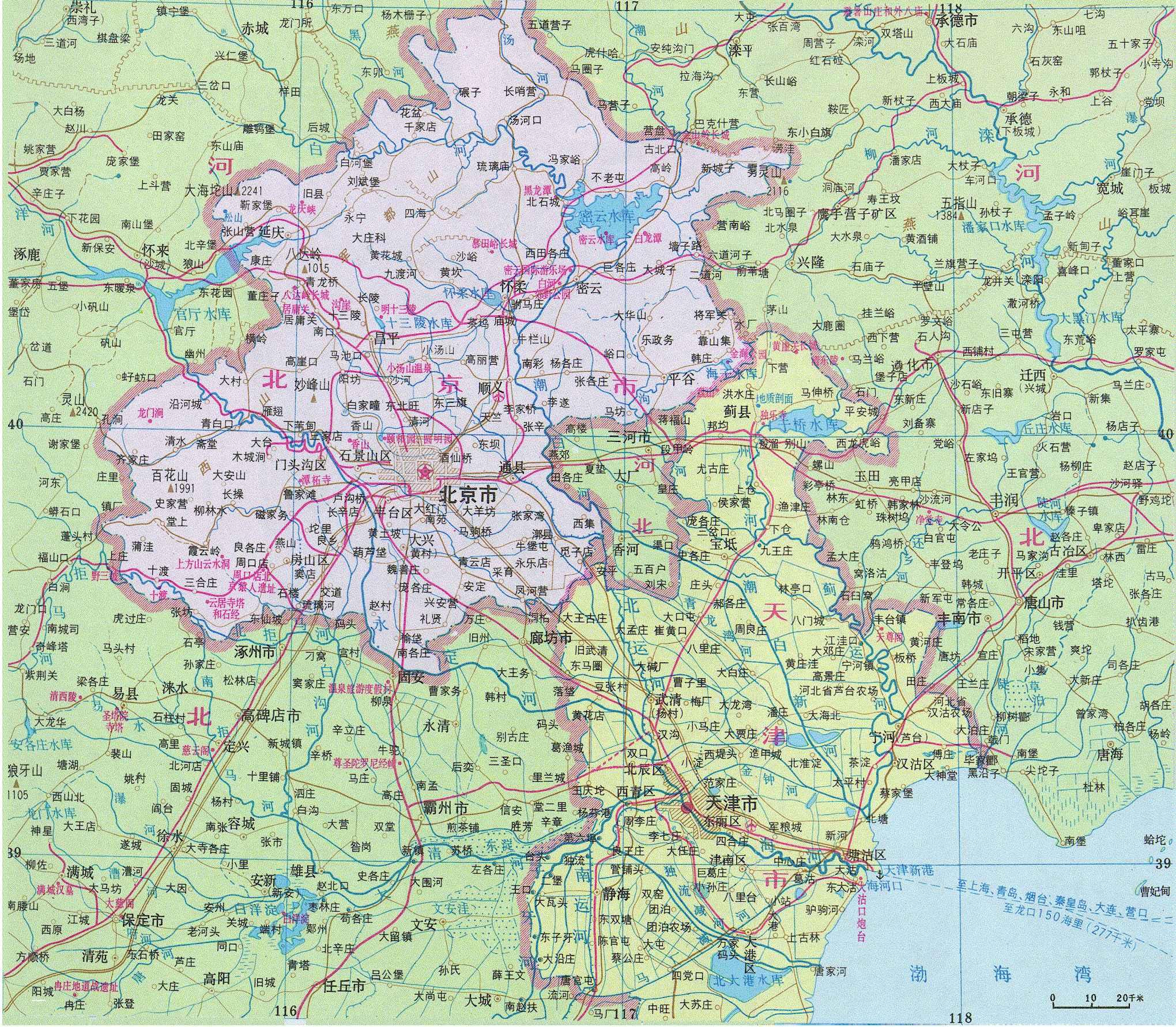 山西到秦皇岛铁路平面图