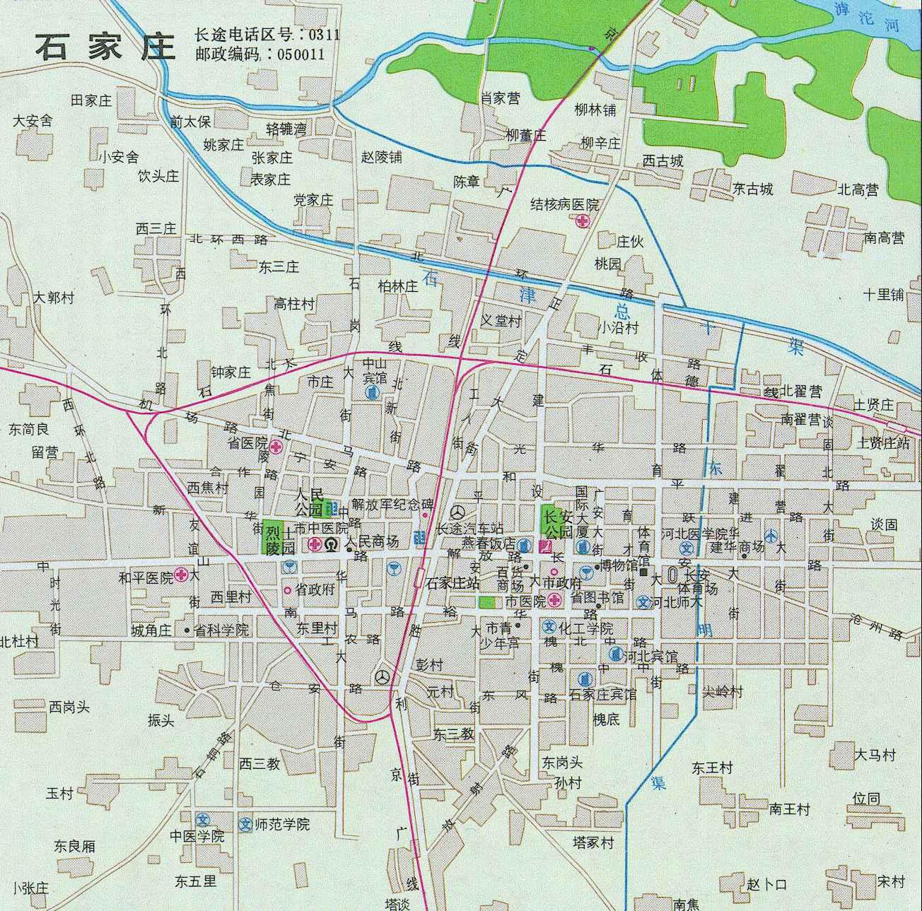 石家庄井陉到山东青岛地图