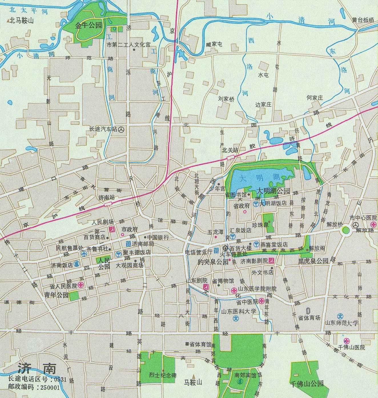 现辖章丘市和长清等4县.市区人口160万