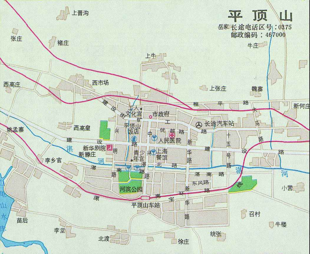 河南平顶山郏县地图