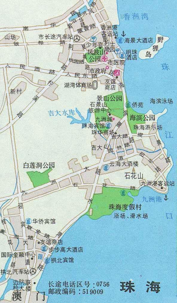珠海岛屿在南海的分布图