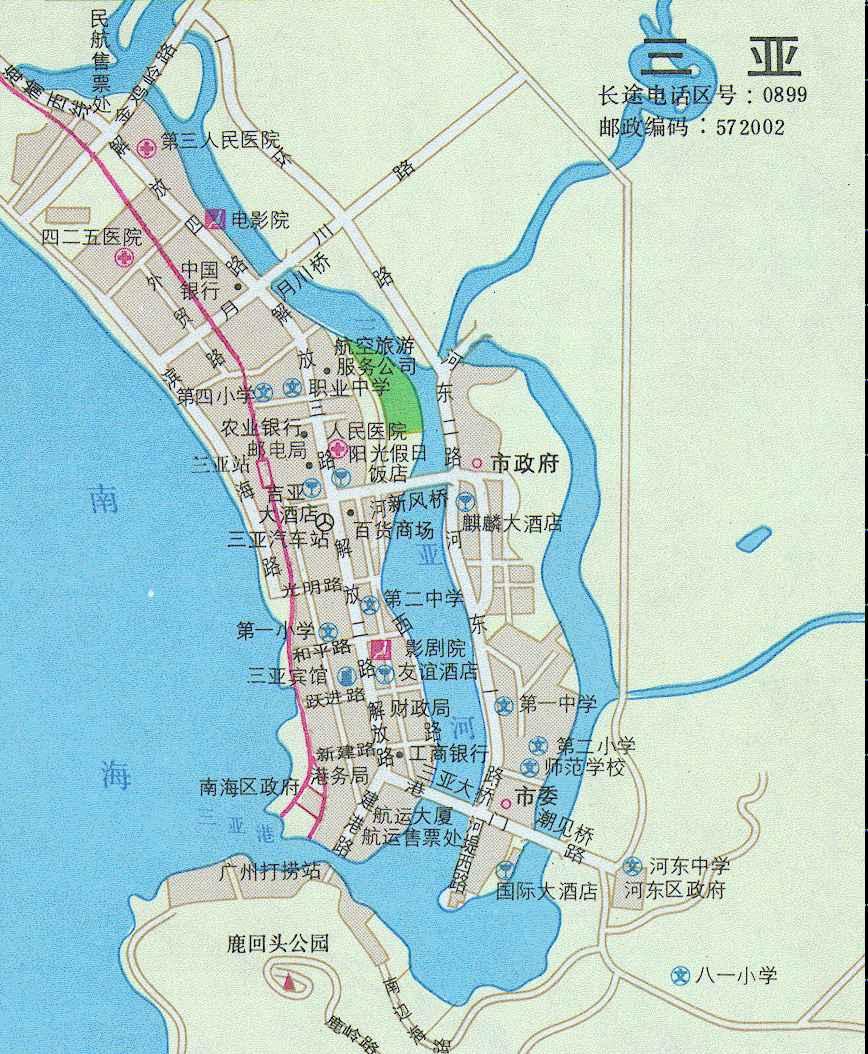 在海南岛南端.隋属临振郡,明为崖州.1912年改崖县, 1984年设市.